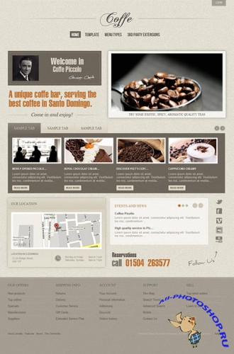 Gavick - Coffe Joomla 2.5 Template - Retail