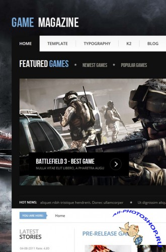 Gavick - Game Magazine Joomla 2.5 Template - Retail