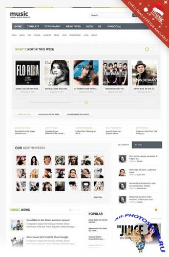 Gavick - Music Joomla 2.5 Template - Retail