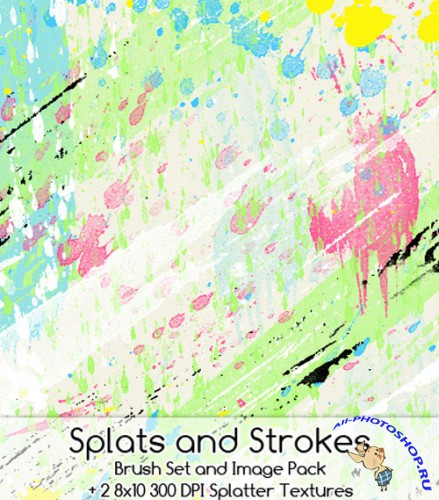 Brushes set - Splats and strokes