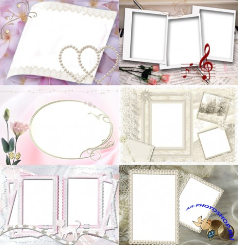 Photo frames for Valentine's Day pack 16