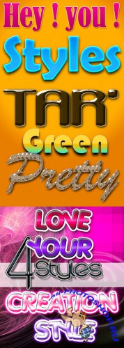 New Photoshop Text Layer Styles Pack 21