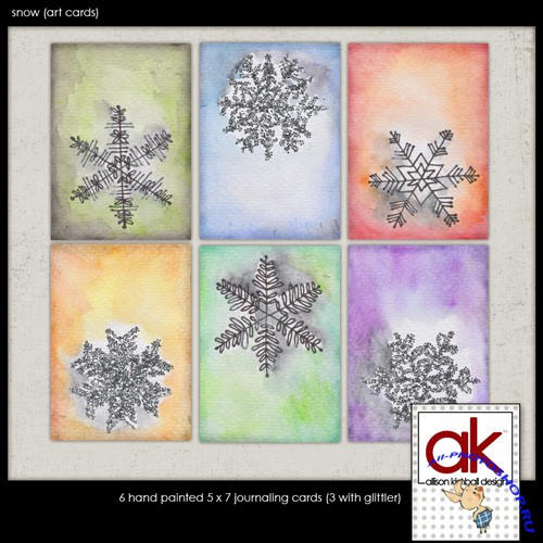 Snow - Art Cards Backgrounds