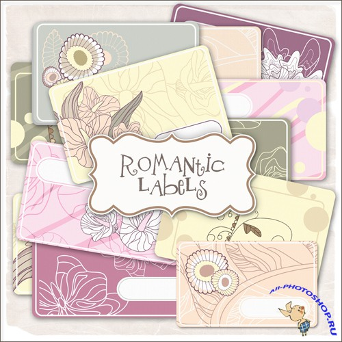 Scrap-kit - Romantic Labels