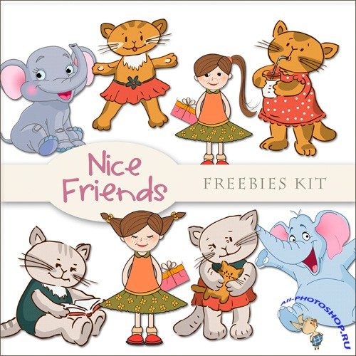 Scrap-kit - Nice Friends