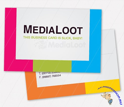 Colorful Business Card Template - MediaLoot