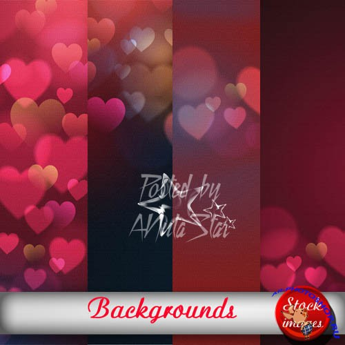 Backgrounds hearts���� � ����������