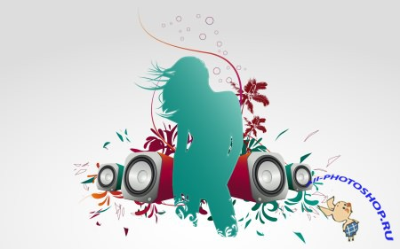 HD ���� �� ������� ����: ���������� �������� Colorful Vector Art Music