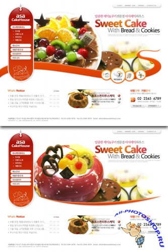 Dessert pastries Korea Web Templates