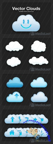 Vector Cloud Icons - MediaLoot
