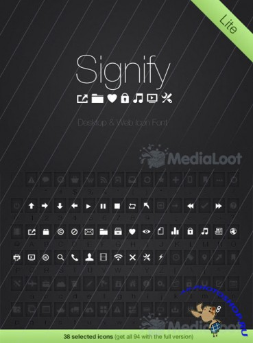 Signify Lite: Free Icon Font - MediaLoot