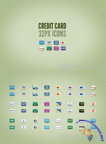 Credit Card 32px Icons - MediaLoot