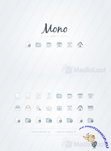 Mono Icons - Part 1 - MediaLoot
