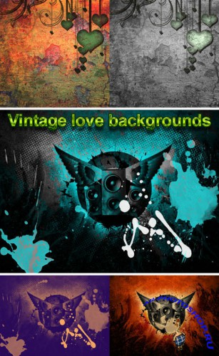 Vintage Love Backgrounds for Photoshop