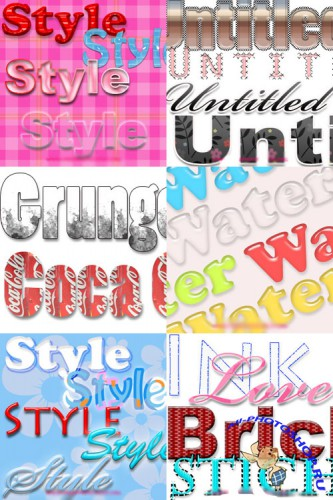 Photoshop Text Layer Styles Pack 27