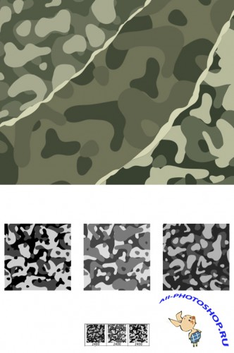 Camouflage Brushes Set for Photoshop