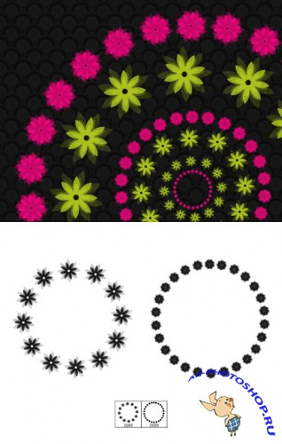 Flower Rings Brushes Set for Photoshop