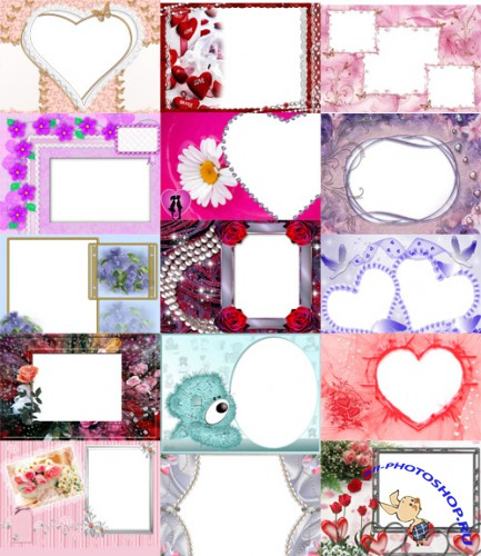 Photo frames for Valentine's Day pack 19 for Photoshop