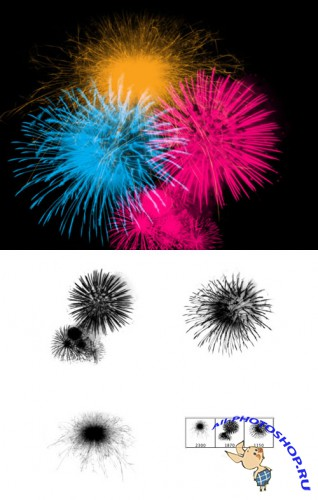 Fireworks Brushes Set for Photoshop
