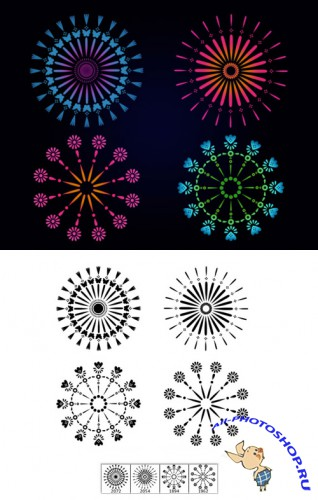 Kaleidoscopic Brushes Set for Photoshop