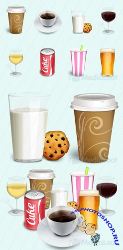 Drinks Detailed Icon Pack - MediaLoot