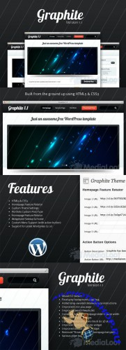 Graphite Wordpress Template 1.1 - MediaLoot