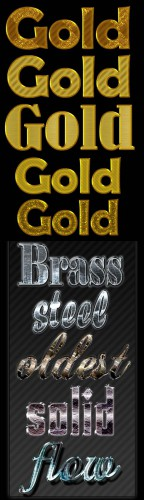 Golden Text and Metal Styles for Photoshop