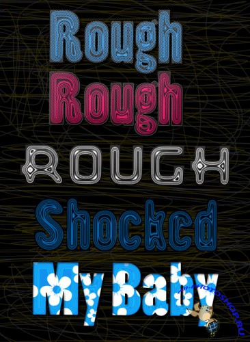 Rough Layer Effects Styles for Photoshop