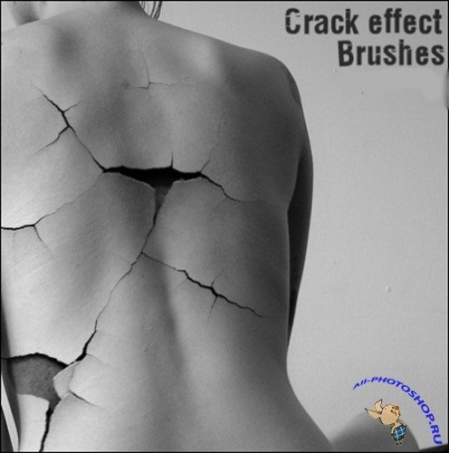 Crack Effect Brushes Set for Photoshop