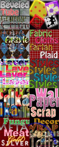 New Photoshop Text Layer Styles Pack 31