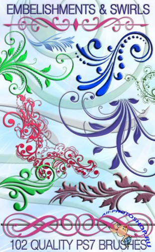 102 Embelishments and Swirls for Photoshop