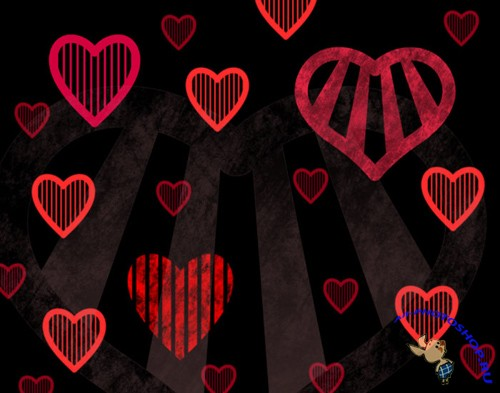 Stripey Hearts Brushes Set for Photoshop