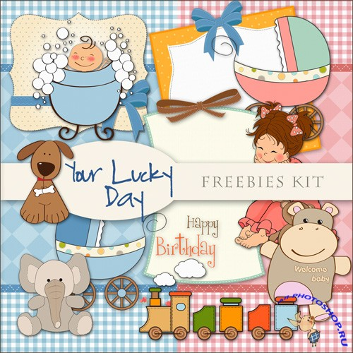 Scrap-set - For Lucky Day