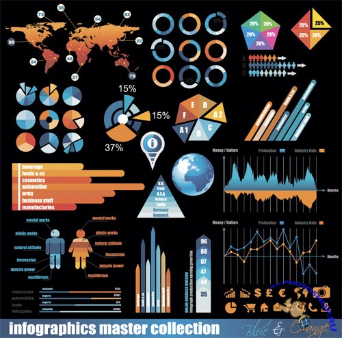 Infographics Master Collection Vector