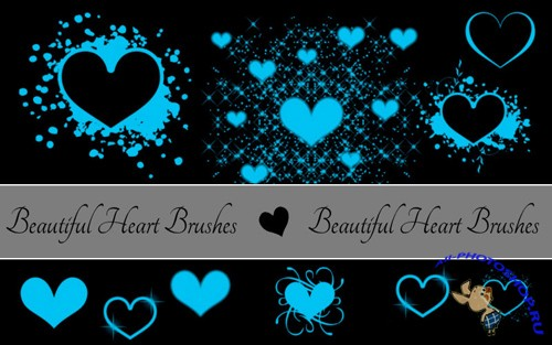 Heart Brushes Set for Photoshop