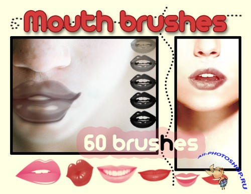 Mouth Brushes Set for Photoshop