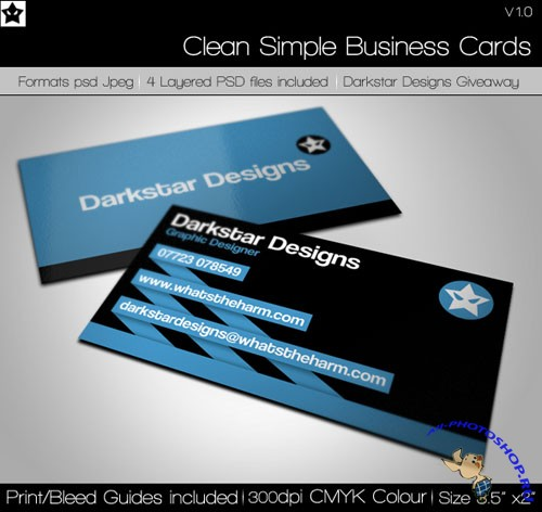 Clean and Simple Business Card PSD Template