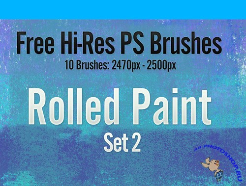 Rolled Paint Brush Set 2 for Photoshop