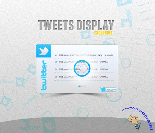 Twitter Display PSD Template