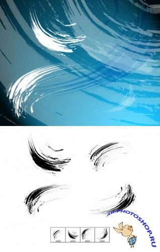 Thick Dry Arcs Brushes Set for Photoshop