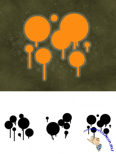 Trendy Blots Brushes Set for Photoshop