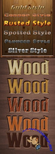 Wood and Metals Text Styles for Photoshop