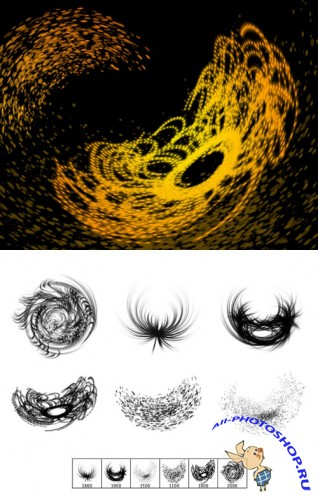 Magnetic Fields Brushes Set for Photoshop