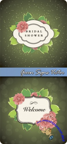 Green Signs Vector