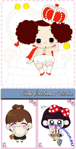 Kids Cartoons Vector