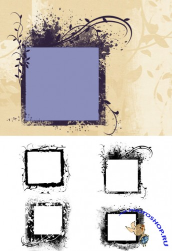 Fab Frames Brushes Set for Photoshop