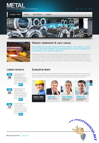 Metal Industrial Web Templates