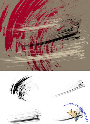 Thick Dry Strokes Brushes Set for Photoshop
