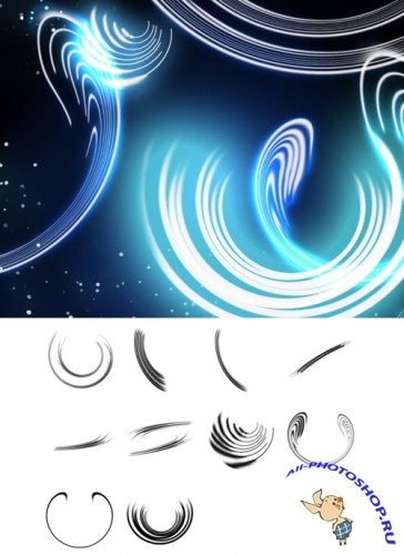 Bending Light Brushes Set for Photoshop