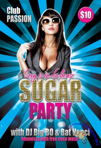 Sugar Party Flyer/Poster PSD Template